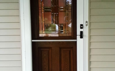 Storm Door Installations Naperville Illinois.